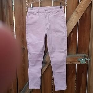 Levi's 721 high rise skinny jeans baby pink sz 30